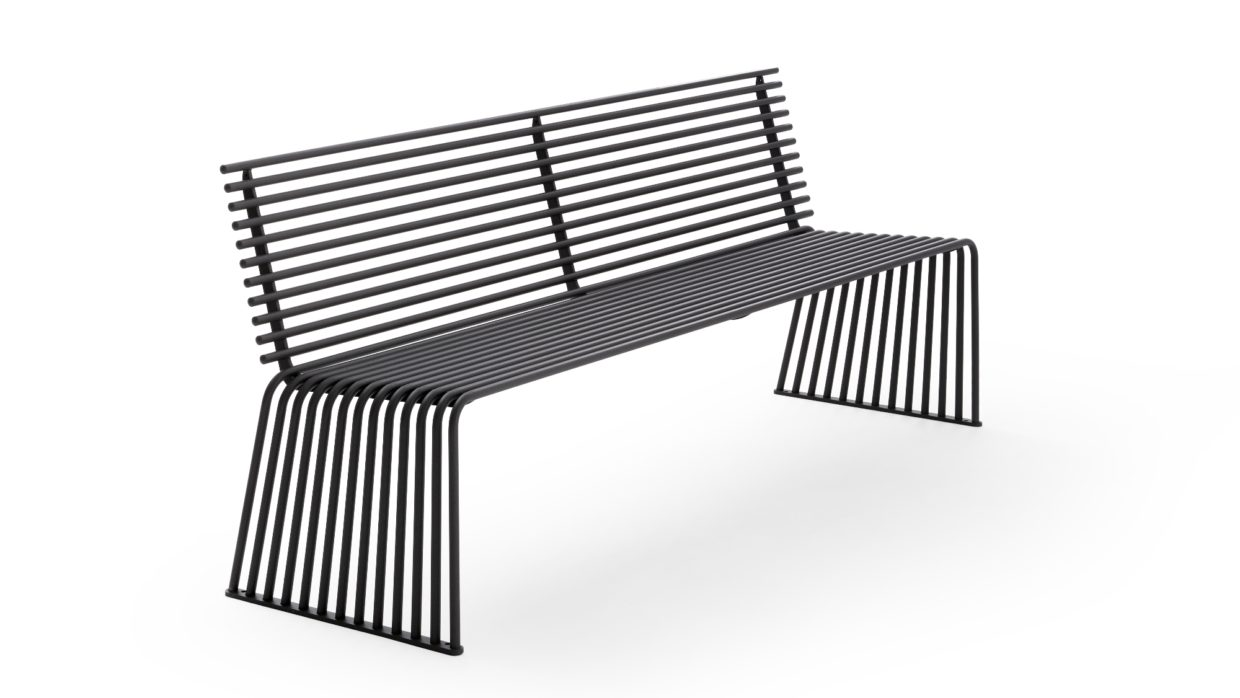 .015 Bench with Backrest Urbantime by Diemmebi