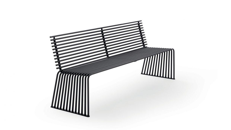 .015 Sitzbank mit Rückenlehne Urbantime by Diemmebi