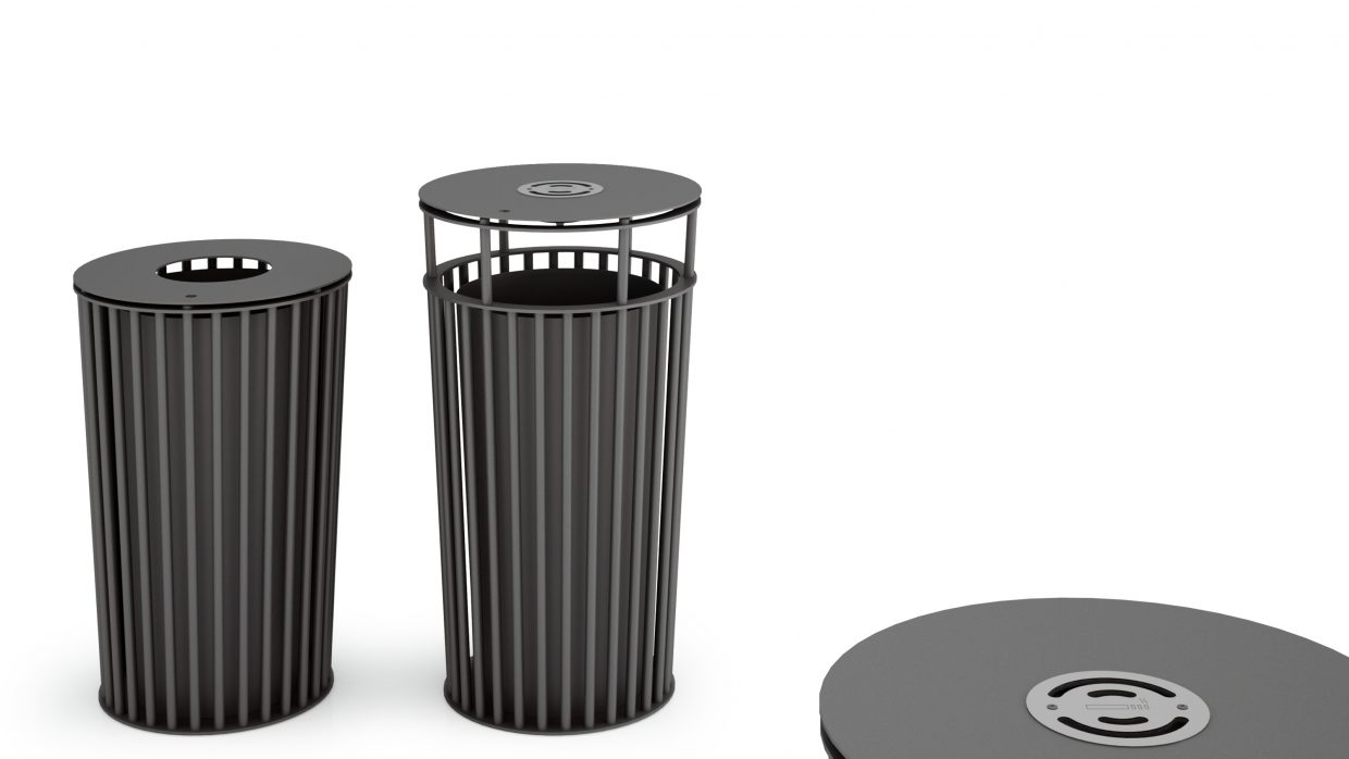 .015 Big Litter Bins Urbantime by Diemmebi
