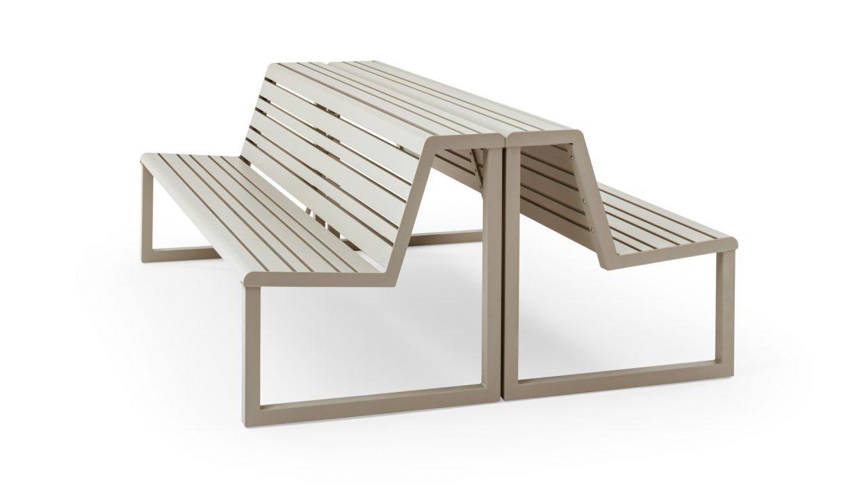 .H24 Panca con schienale e doppia seduta Urbantime by Diemmebi
