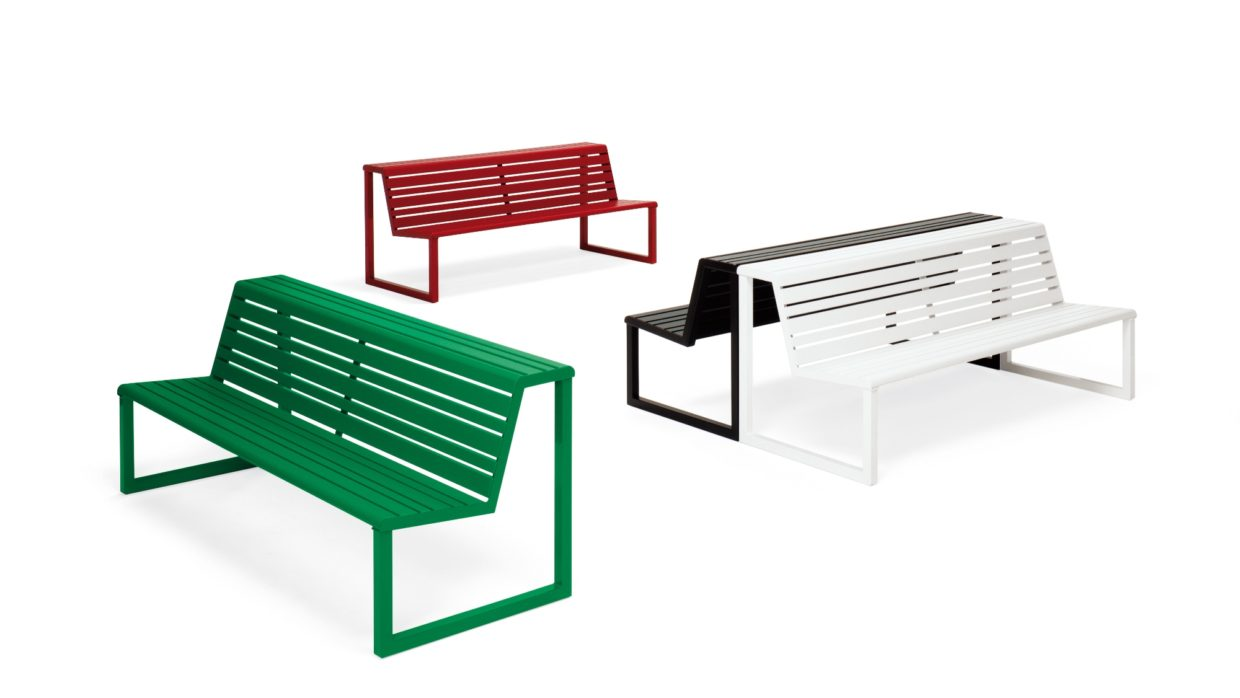 .h24 Double Seat with Backrest Urbantime by Diemmebi