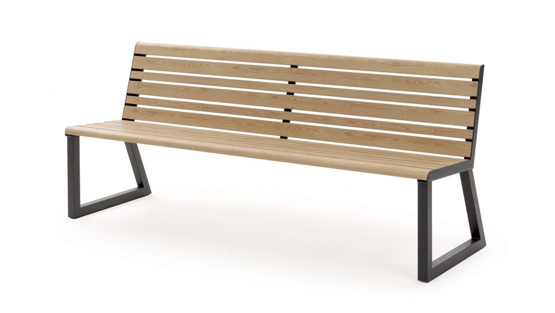 .h24 Bench with Backrest Urbantime by Diemmebi
