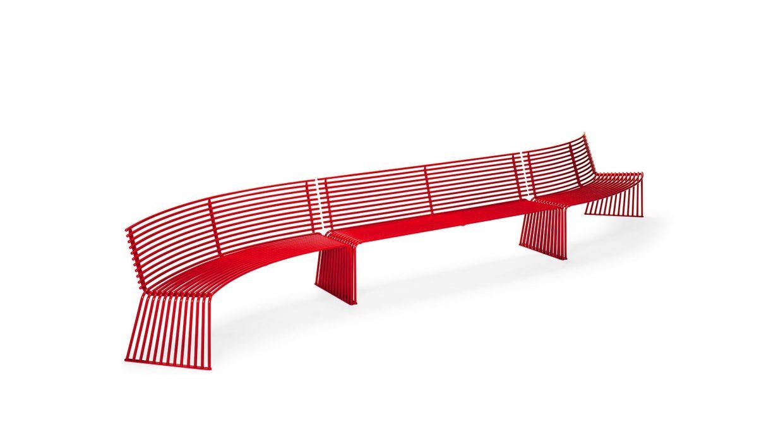.015 Concave or convex bench with backrest Urbantime by Diemmebi