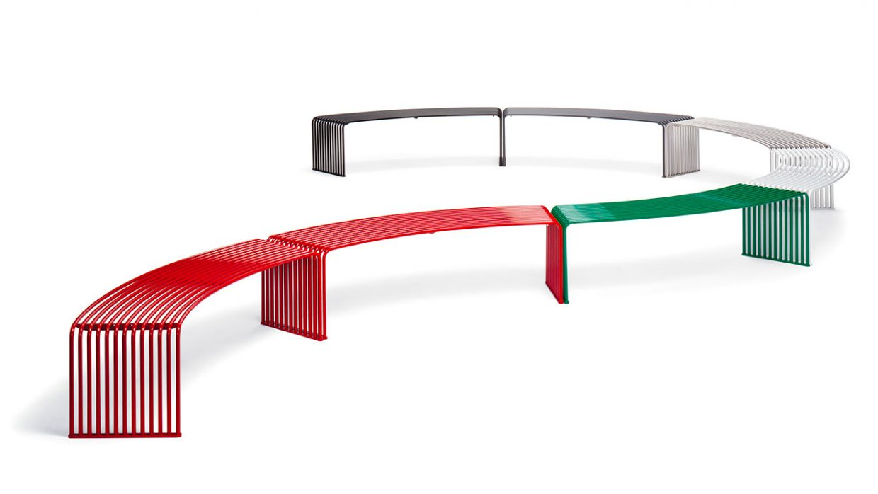 .015 Concave or convex bench Urbantime by Diemmebi