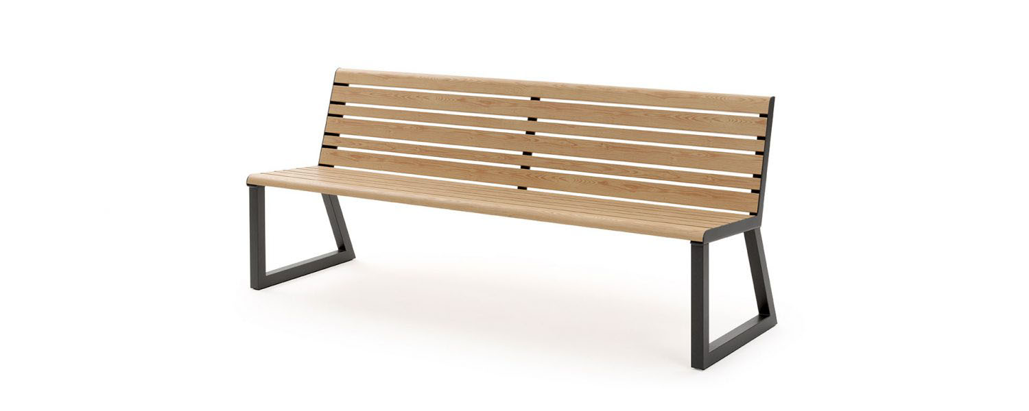 .h24 Bench with Backrest
