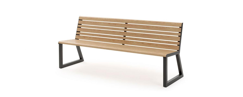 .h24 Sitzbank mit Rückenlehne